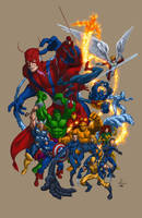 Marvel Heroes Group by edtadeo