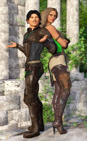 Lynnxe and Elania by Janus3003