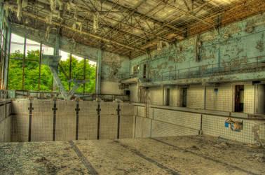 Pripyat Pool HDR by JaanusJ
