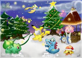 Pokemon Christmas by VanillaChii