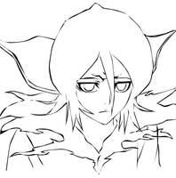 Line art Rukia by elicottyn