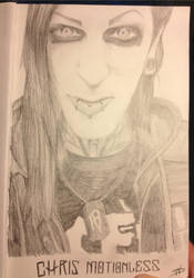 Chris Motionless Portrait by FalloutLuver13