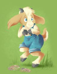 Scardy Goat by VioletVampireVixen
