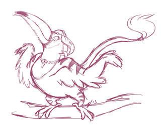 Another silly bird by VioletVampireVixen