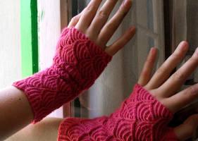nereid fingerless gloves by glasschild