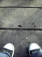shoes and concrete by glasschild