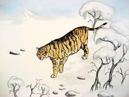 Amur Tiger by CindarellaPop