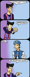 Sportacus And The Apple Pie by TheTrippyTippy