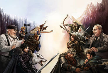 Duel Game of Thrones X Lord of The Rings by Murilo-Araujo