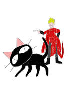 Ani-MAY Cats: Kuroneko-sama and Vash the Stampede by ElSqiubbonator