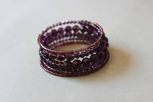 Dark purple memory wrap wire bracelet by ettarielart