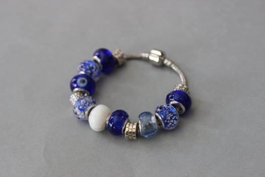 Cobalt blue modular bracelet by ettarielart