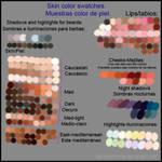 Some skin swatches. Algunas muestras de piel by MarinaSchiffer
