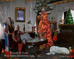 Wassail, at Home with Father and Mother Yule. by Can-Cat