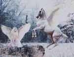Gna and Hofvarpnir by Can-Cat
