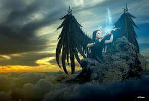 Angel Black by Hiostamino