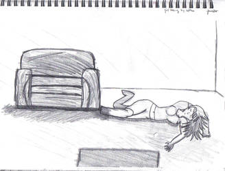 Girl Dozing by Settee by MuseOfMusic