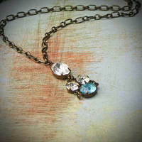 Vintage Rhinestone Necklace by rewelliott