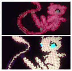 Mew Perler (glow in the dark) by xXXxNightShadexXXx