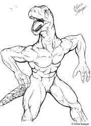 Mouthy Dinosaur by ChrisSawyerArt