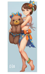 100 character project--038.Beach Girl by kongyi