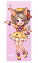 100 character project--016.Cute Kitty Girl by kongyi