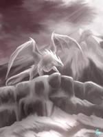Savage White Dragon by cumalee