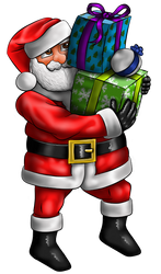 Santa brining presents by HarlandGirl