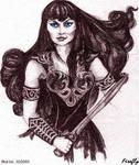 Xena Sketch by firefly-wp
