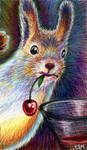 Party squirrel by firefly-wp