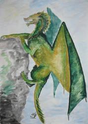 Green dragon by Rthyin