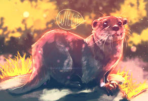 Willie the wiggly otter by TimelordLoki