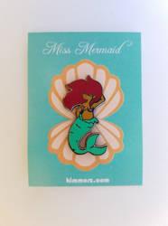 Miss Mermaid Enamel Pin by Kimmorz