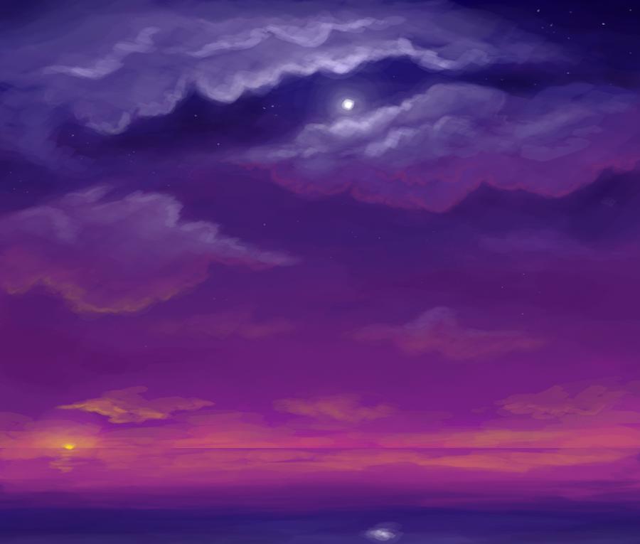 Sky speedpaint by BellaCielo