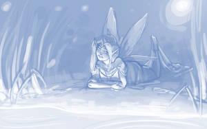 Moon Lake - Sketch by BellaCielo