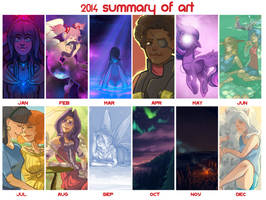 2014 Summary of Art by BellaCielo