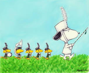 Snoopy and the Marching Band by Joy4000
