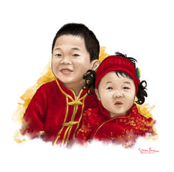 Kids portrait by stevenbrahma