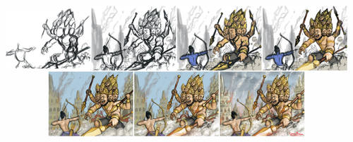 Dasamuka - step by step by stevenbrahma