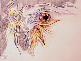 Chicken On Fire by RayvenOGiger