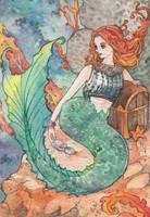 Mermaid Postcard by spiderlady
