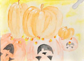 Candy Corn Pumpkins by TheElegirl