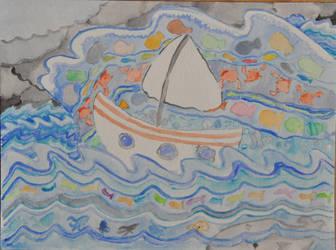 A Storm At Sea by TheElegirl