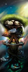 Yggdrasil the World Tree by Dick3rl3