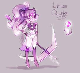 Lithium Quartz  Fusion|| Quartz + Rose Quartz by KryingKraken