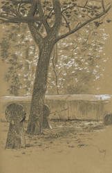 churchyard : Black and white pencils and markers by wimke