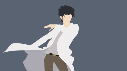 Okabe Rintaro by randomhobbyist
