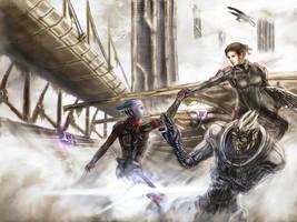 Mass Effect - Fem Shepard team by Estebanmn