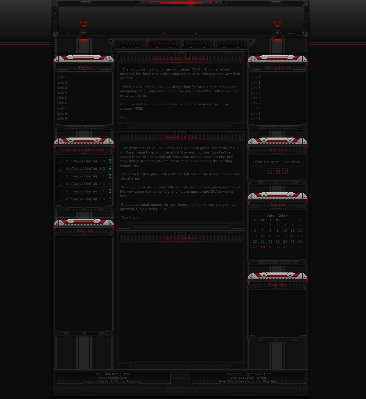 X-71 Gaming Website Theme by ThemeKings by themekings