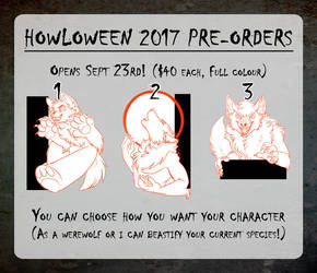 Howl 2017 Pre-orders Opening Sept 23rd! by Temrin